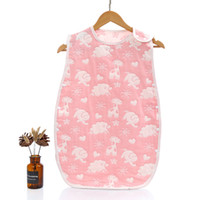 Wholesale baby sleep vest resale online - Baby Sleep Sack Layered Cotton Gauze Vest Wearable Blankets Breathable Toddler Kid Slumber Bag YH