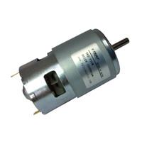 ingrosso motori ad ingranaggi ad alta coppia-Piccolo magnete permanente a coppia elevata con motore CC 775 12v ad alta velocità 12000 RPM con cuscinetto per utensili elettrici