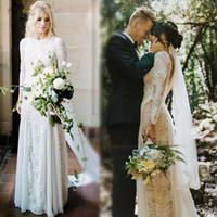 imagens de open back long wedding dresses venda por atacado-