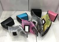 sandalias de tacón al por mayor-Diseñador de moda de lujo para mujer pvc sandalias de cristal diapositivas tacones altos Diseñador de interior de cristal transparente zapatillas de mujer 42 42