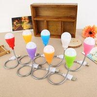 lâmpadas led usb venda por atacado-Cor bonito lâmpada nova mangueira LED pequeno bulbo de carregamento USB linha longa lâmpada