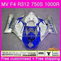 Wholesale mv agusta f4 abs for sale - Group buy Body For MV Agusta F4 MV F4 R312 S R CC Kit HM Hot White Blue R MA MV F4 Fairing