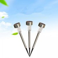 Wholesale stainless steel lawn lamp for sale - Group buy LED Solar Lights Sun Lawn Light Stainless steel Garden Outdoor Sun Light Corridor Lamp Solar Powered Solar Tool AAA1698