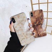 ingrosso silicone per pietra-Custodia per telefono per iPhone 6 6s 7 8 Plus Custodia in marmo lucido di lusso in pietra di granito per iPhone X XS Max XR Soft
