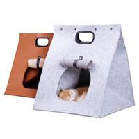 Wholesale travel house bags for sale - Group buy Felt Cat Dog House Travel Nest Foldable Portable Deformable Pet Sleeping Bag Pet Carrier Handbag Dog Supplies