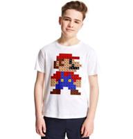 üst modal gömlekler toptan satış-Süper Mario T-Shirt Çocuk Yaz gömlek Moda Sokak T Gömlek Modal Hipster Baskılı Tee Kısa Kollu Periyodik Tablo GGA1902 Tops