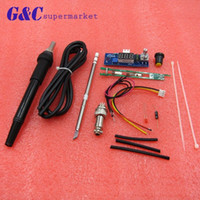 Wholesale solder handle resale online - Freeshipping STC T12 DIY Digital Soldering Iron Station Temperature Controller Board Kit for HAKKO T12 T2 Handle