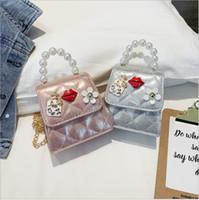 kore çantası takılar toptan satış-Çocuklar Tasarımcı Çanta Yeni Kore Bebek Kız Fantezi Mini Prenses Çantalar büyüleyici ağız Güzel Kızlar Çapraz vücut Çanta Çocuk hediyeler