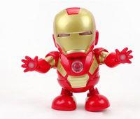 pil müzik oyuncak toptan satış-Yeni Marvel Avengers 4 Endgame Süper Kahramanlar dans Demir Adam müzik Ile Mech Modeli Action Figure Oyuncaklar pil içermez