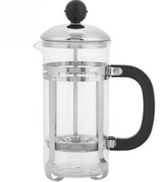 Wholesale stainless steel french press for sale - Group buy 350ml Stainless Steel Glass Hollow Cafetiere French Filter Coffee Pot Coffee Tea Pot Press Plunger