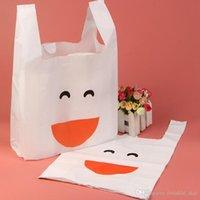 45pcs Plastic bag Merchandise hand bag Shopping Carrier gift Bag for T-shirt