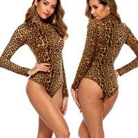 ingrosso le camicette delle signore-Le donne sexy del leopardo stampato Body High Cut Body Perizoma Clubwear tuta pagliaccetto supera Lady Stretch Body Tops calde blouse