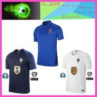 Wholesale free soccer uniforms resale online - new France soccer jersey POGBA GRIEZMANN MBAPPE th Jersey Thailand top quality soccer uniform S XXXL