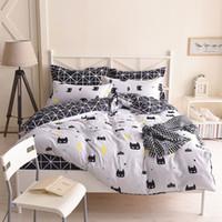 ingrosso letti matrimoniali-Biancheria da letto Batman Set copripiumino in cotone di colore nero Copriletto Copripiumino singolo letto queen size per bambini