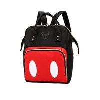 okul için büyük sırt çantaları toptan satış-2019 Mickey Sırt Çantası PU Deri Kadın Büyük Çanta kadın Sırt Çantası Tatlı erkek Kız Sırt Okul Çantası Mochila Feminina