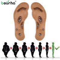 ingrosso solette per massaggiare i piedi-Body Detox Magnetic Foot Agopuntura Point Therapy Cuscino sottopiede Massager Brioche Comfort Massage Shoe Pads Therapy