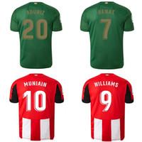 clubes de futbol al por mayor-19 20 Athletic Bilbao Club Home camisetas de fútbol 2019 2020 Aduriz Williams Sola Muniain camisetas de fútbol hombre niños kit uniforme de fútbol