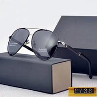 auto polarisierte marken großhandel-8738 Sonnenbrillen Hochwertige Explosion Modelle Herren Polarisierte Sonnenbrillen Mode Fahrspiegel Auto Markensonnenbrille mit Kleinkasten