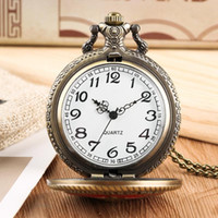 reloj de bolsillo vintage tallado al por mayor-Reloj de bolsillo de cuarzo vintage para hombres, cuerpo de marina de los Estados Unidos, cadena de eslabones tallados de flores.