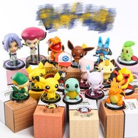 pop-tv großhandel-FUNKO POP Echte Deadpool 3 Zoll Pikachu Action Figure Pikachu Cosplay Deadpool Sammeln Modell Spielzeug iaozhi Pikachu Musashi Kojiro Spielzeug