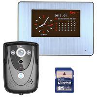 teléfono de la puerta del tacto al por mayor-LENVII TS701 Pantalla táctil Teléfono de video con video de 7 pulgadas con tarjeta de memoria SD de 8GB, grabación