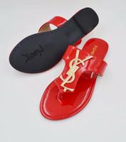 buenas marcas de zapatos de cuero al por mayor-2019 Fashion urope and the Us Sandals Leather Brand New Shoes Sandalias de cinturón de mujer Leather good Chanclas Zapatillas de mujer al por mayor