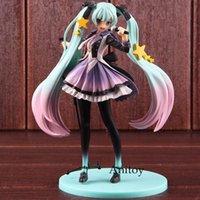 figuras de brinquedo miku venda por atacado-Anime Miku Hatsune Brinquedos 10th Anniversary Edition PVC Vocaloid Figura Ação Collectible Toy Modelo