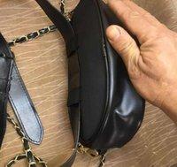 vip kosmetik taschen groihandel-Neue klassische marke hochwertigen pailletten c stil frauen gürteltasche schwarz pu kosmetiktasche handtasche make-up veranstalter aufbewahrungsbox vip geschenk
