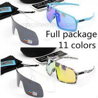 fahrrad-sonnenbrillen marken großhandel-Neue Marke Sutros Photochromic Cycling Sunglasses 3 Objektiv UV400 polarisierte MTB Radfahren 9406 Sonnenbrillen Sport Fahrrad Brille Full Paket