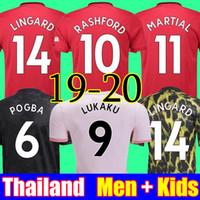 camisa s venda por atacado-Tailândia 18 19 20 manchester united camisas de futebol MAN utd 2019 2020 marcial RASHFORD POGBA LINGARD kit de futebol MARCIAL camisa FRED camisa