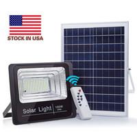ingrosso proiettore del sensore di luce-100W solare lampada esterna del proiettore impermeabile Street, con la luce di controllo remoto del sensore luci di inondazione Gift Package