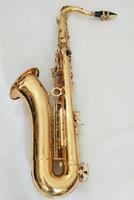саксофон-саксофон оптовых-Профессиональный супер сделано во Франции саксофон тенор Bb золото латунь тенор саксофон музыкальный инструмент с корпусом
