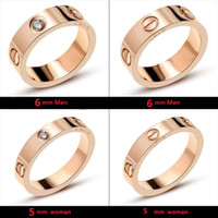 Wholesale men rings resale online - Titanium Steel Wedding Brand Designer lovers Ring for women Luxury Zirconia Engagement Rings men jewelry Gifts Fashion Accessories