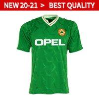 Wholesale ireland football jersey resale online - Ireland RETRO soccer jersey football shirt Republic of Ireland National Team Jerseys World cup kit green white