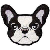 gestickte hundeflecken groihandel-Stickapplikationen für Chenille-Hunde für Jacken, Stickapplikationen für Jeans mit Handtuch-Tierabzeichen, Patches für Bekleidungsstücke
