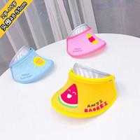 ingrosso cappello coreano coreano-Berretti per bambini Estate per bambini Cute Empty Top Cartoon Hat Coreano casual protezione solare spiaggia cappello sole