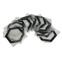 almohadilla de calor de calidad al por mayor-Calidad FDA grado alimenticio reutilizable antiadherente concentrado bho aceite de la mancha Hexágono forma resistente al calor fibra de vidrio silicona dab pad mat