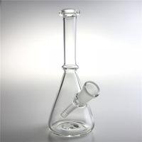 Wholesale recycler beaker bong for sale - New Inch mm Female Glass Recycler Bongs Straight Mini Oil Rigs Dab Beaker Bong Glass Water Bongs for Smoking
