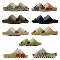 Wholesale slippers for sale - Group buy 2020 kanye west slides Earth Brown Foam Runner triple white black women mens classic sandals slides platform outdoor slippers