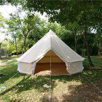 sinos ao ar livre venda por atacado-Tamanho 300 * 300 * 200/60 centímetros tipo sino tenda ao ar livre tela, grande tenda de socorro, chama personalizado retardante de lona da tenda quente