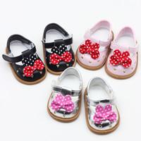 ingrosso scarpe da bambola per il bambino-7.5 * 4.2cm Giocattoli Hobby Accessori per bambole Accessori per bambole Scarpe di moda per 1/3 BJD Doll e 43cm Baby Doll Scarpe