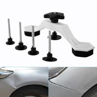 kit-tab großhandel-Paintless Auto Auto Dent Repair Körperschaden Fix Tool Ziehen Brücke Puller Dent Entfernung Kleber Tabs Hand Repair Tools Kit Universal