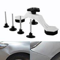 Wholesale car dent removal kit resale online - Paintless Auto Car Dent Repair Body Damage Fix Tool Pulling Bridge Puller Dent Removal Glue Tabs Hand Repair Tools Kit Universal