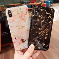étui iphone or rose achat en gros de-Cas de téléphone de marbre Bling de luxe de feuille d'or pour l'iPhone X 6 6s 7 8 Plus couverture Glitter Soft TPU Case pour iPhone 6 Plus cas de silicium