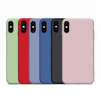 резиновый гель оптовых-Жидкий силиконовый чехол для телефона для iPhone Xs Max Xr X 8 7 6 Plus Gel Резиновый противоударный чехол для телефона Чехол