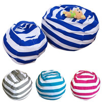 Wholesale bean bag new resale online - New Creative Modern Canvas Travel Bag Large Capacity Bag Storage Stuffed Animal Bean Portable Kids Clothes Toy Bags