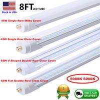 Wholesale fluorescent lights bulbs resale online - Double Row LED Tubes T8 ft Single Pin FA8 W LED Tube Light ft feet LM W Fluorescent Bulb Stock In US