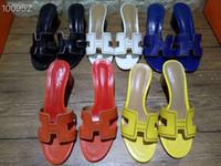 buenas marcas de zapatos de cuero al por mayor-2019 Buena calidad zapatos de diseño de cuero genuino zapatillas de mujer de cuero en relieve sandalias de cuero estilo europeo zapatos de marca con cajas