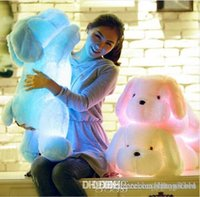 Wholesale kids toy for night for sale - Group buy toy cm Length Creative Night Light LED Lovely Dog Stuffed and Plush Toys Best Gifts for Kids and Girl Friends