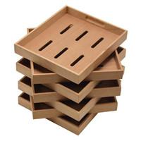 boîtes à outils de plateau achat en gros de-Bois de cèdre Humidor Plateau Accessoires 5pcs Plateau en bois massif pour boîte à cigares Humidor Outils d'accessoires